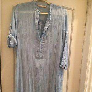 Zara Basic Linen Tunic Size M